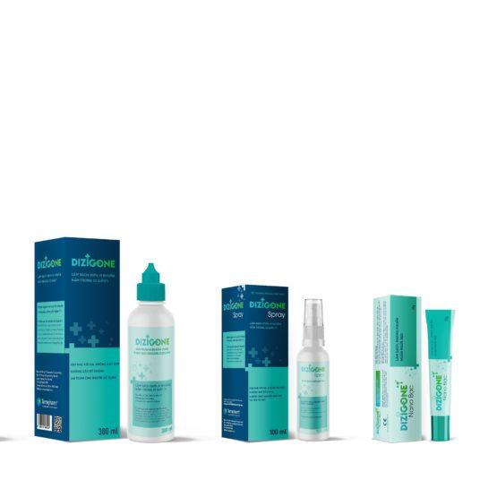 Bộ sản phẩm Dizigone kháng khuẩn – tái tạo da – ngăn ngừa sẹo