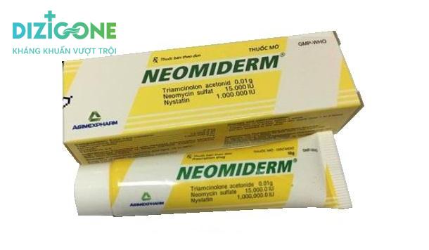 Neomiderm kem bôi vết thương hở