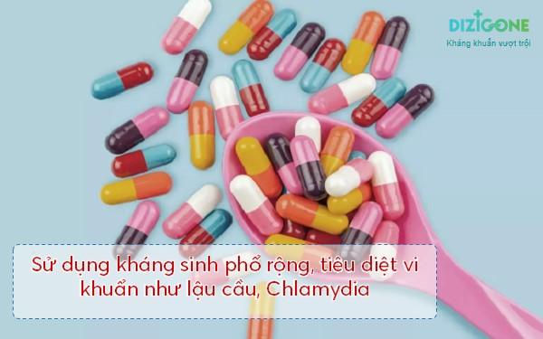 sử dụng kháng sinh điều trị viêm lộ tuyến