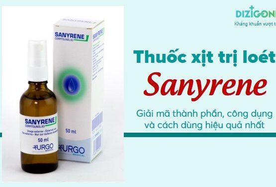 Thuốc xịt trị loét Sanyrene: Giải mã thành phần, công dụng và cách dùng hiệu quả nhất